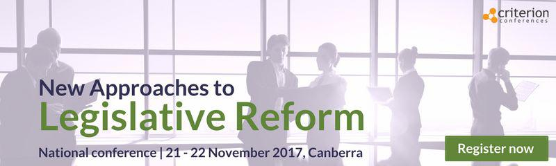 New Approaches to Legislative Reform conference