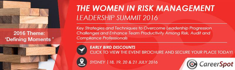 The Women in Risk Management Leadership Summit 2016